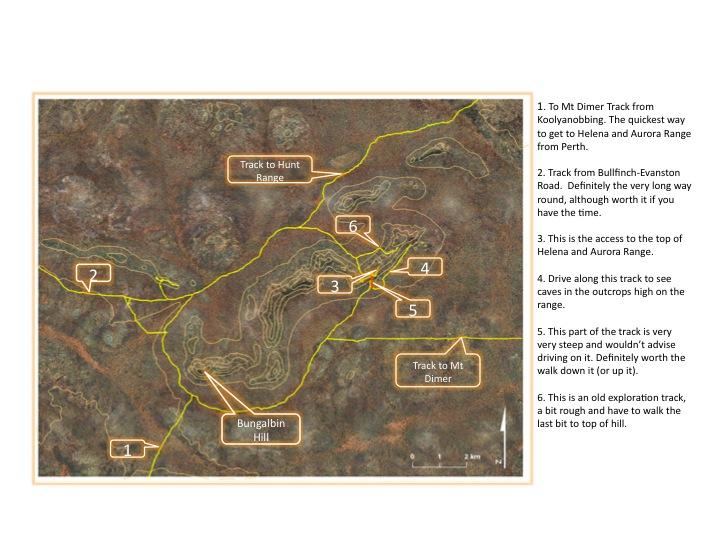 Australia Driving Map.Maps Location Helena And Aurora Range