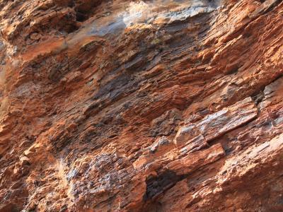 Close-up of large BIF outcrop.